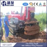 Impianto di perforazione di trivello alesato rotativo portatile del mucchio del cingolo di Hf160y