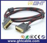 Hochgeschwindigkeits-DVI zum heraus flechtenden DVI Kabel