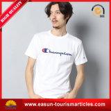 T-shirt plat de palangre de T-shirt de piste de Knit de T-shirt bon marché de couleur de la peau