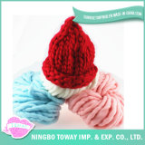 Chapéus robustos mornos agradáveis do Beanie do inverno de lãs do fio para mulheres