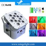 Xlighting 12PCS LED DMX 무선 건전지 동위 빛 사용 실내 LED 단계 빛