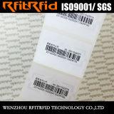 Etiqueta antirrobo del papel brillante RFID de la frecuencia ultraelevada para la gestión de activos