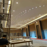 Lampe de luxe moderne Crystal Squar Pentand avec Projece Hotel