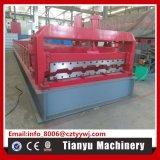 CNCの冷たい金属の機械を形作る鋼鉄屋根瓦シートのプロフィールロール