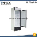 Porta de vidro único Vertical Display Vertical freezer para sorvetes