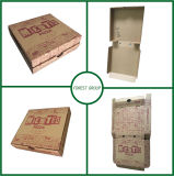 14 Inch Brown Boîte de papier de pizza avec impression Flexo