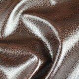 Cuero sintetizado Anti-ULTRAVIOLETA de la PU de Stocklot para el sofá (CPU001#)