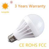 Luz de bulbo cerâmica 80-90 Lm/W do diodo emissor de luz 9W da alta qualidade E27