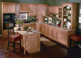 Crown Molding Raised Panel Frame-Less Rta Solid Wood Kitchen Cabinets