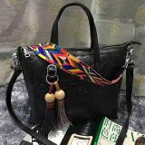As bolsas coloridas das mulheres da forma da cinta gravaram o saco de Tote Emg4802 do couro genuíno