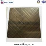 Плита декоративной плиты волосяного покрова креста высокого качества Foshan покрашенная нержавеющей сталью