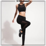 A ioga feita sob encomenda por atacado das mulheres arfa calças da compressão com bolso lateral
