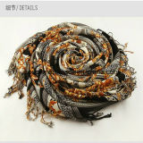 Moda padrão geométrico xaile de lã ou cachecol pashmina cachecol cachecol