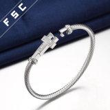 Braccialetto cubico semplice del braccialetto di Zirconia per le donne come regalo della damigella d'onore
