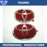 Emblemas vermelhos feitos sob encomenda da grade da parte dianteira do carro do cromo do ABS do logotipo do carro