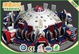 Unterhaltungs-erwachsenes Geräten-Drehfahrfiberglas-Fliegensaucer-Spiel-Maschine