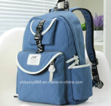 La moda hombro doble viaje de compras Ocio Bolsa Mochila Estudiante (CY3670)