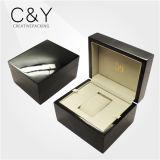 Sola caja de presentación del reloj de la laca negra al por mayor elegante del piano