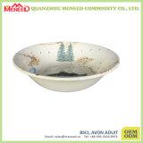 Impresión llena de la flor de cerámica como el tazón de fuente de ensalada de la melamina