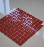 Azulejo de mosaico casero del vidrio cristalino de la Plaza Roja de la decoración