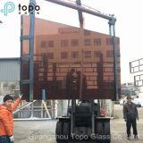 染められたピンクカラーフロートガラスは建物ガラスFcactory (C-P)から提供する