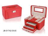 Классицистическая Коробка Ювелирных Изделий PU Черноты с Бортовыми Панелями