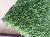 4 herbe artificielle de gazon synthétique vert-foncé à haute densité des couleurs 32mm