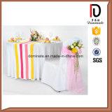 結婚の宴会の白い円形のスパンデックスのテーブルクロス(BR-TC003)