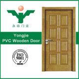 Porta de madeira do PVC da porta da cor para preços interiores