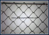 Clôture de liaison en chaîne en fil d'alliage d'aluminium