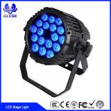 24PCS 10W LED DJ organizzano gli indicatori luminosi IP65 che LA PARITÀ del LED impermeabile può illuminare 24 X 10W RGBWA 5in1