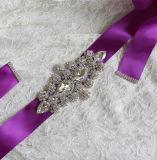 Пояс Waistband венчания Bowknot сатинировки цветастого Rhinestone кристаллический