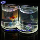 Tanque de peixes Shaped do coração acrílico feito sob encomenda do amor (BTR-S2042)