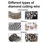 Diamond вакуумный провод пилы валики для паяных пластин камня конкретные