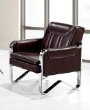 Sofá de couro novo do escritório do design novo de alta qualidade com almofada dobro do quadro do metal 681 #.