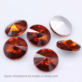 Het Bergkristal Rivoli 14mm Punt AchterChaton van het Glas van Lized van het kristal K9 (Pb-Rivoli 14mm)