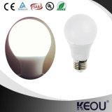 Bulbo do diodo emissor de luz de A60 A19 E27 com material plástico e de alumínio