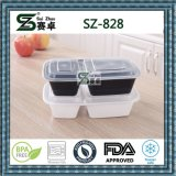 2 embalagens de alimentos descartáveis de plástico do contentor