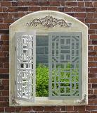 Specchio bianco antico della finestra del blocco per grafici di legno
