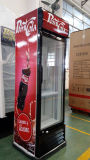 New Design 400L Vertical Showcase Cooler com Ce, CB, RoHS Aprovado