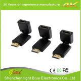 Adaptador da rotação HDMI do plugue do ouro