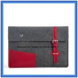 """Neuer umweltfreundlicher Leder-Laptop-Beutel des Portable-3mm echtes der Wolle-Felt+, kundenspezifische Förderung-Laptop-Hülse für """" Laptop 13"""
