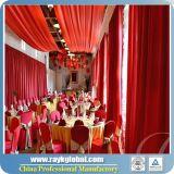 アルミニウム管は結婚式のショーによって使用される管にカーテンの立場をおおい、おおい、