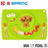 Ensemble de table pour nourrisson pour bébés Forme d'escargot Bac à aliments en silicone
