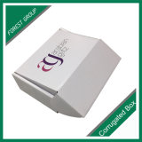 Venda por atacado de empacotamento embalada lisa da caixa de sapata do cartão