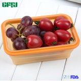 De middelgrote Opvouwbare Container van het Silicone van de Rang van het Voedsel voor het Openlucht en Gebruik van de Keuken