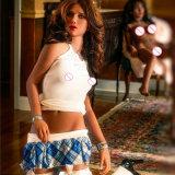 piccola bambola del sesso del seno di 155cm una bambola a grandezza naturale di amore del silicone della ragazza della tazza
