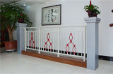 Balcón de acero galvanizado decorativo de alta calidad 9 que cercan con barandilla de la aleación de Haohan Alluminum