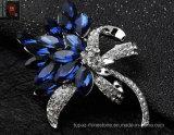 Broche van de Juwelen van het Kristal van het Bergkristal van de Legering van het zink de Zilveren voor Dame (TM006)
