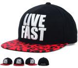 3D Bordados Algodão Camouflage Crown Snapback Hat Cap com OEM logotipo personalizado
